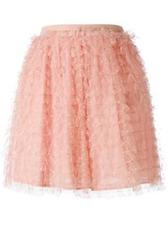 Red Valentino Tiered Tulle Skirt Pink And Purple