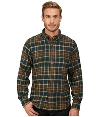 Woolrich Trout Run Flannel Shirt Abyss Men's Long Sleeve Button Up Navy