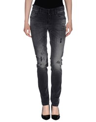 Cambio Denim Denim Trousers Women Grey