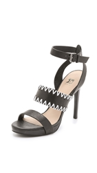 Joe's Jeans Riana Platform Sandals Black Off White