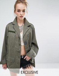 Reclaimed Vintage Military Jacket Olive Green