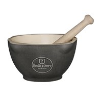 Emile Henry Mortar And Pestle Charcoal