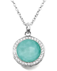 Ippolita Stella Lollipop Pendant Necklace In Turquoise Doublet With Diamonds Silver