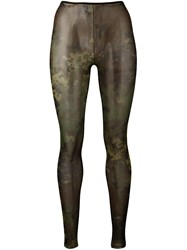 Dsquared2 Camouflage Sheer Tights Green