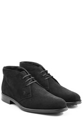 Tod's Tods Suede Desert Boots Black