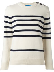 Mih Jeans 'Sophia' Breton Sweater Nude And Neutrals