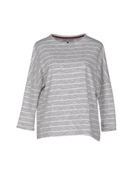 Only Topwear Sweatshirts Women Light Grey