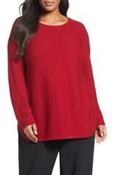 Eileen Fisher Plus Size Women's Organic Cotton Links Sweater