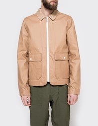 Native Youth Dry Wax Cotton Coach Jacket Sand