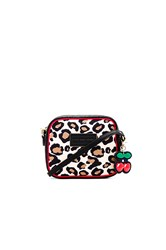 Marc Jacobs Leopard Cherry Charm Crossbody Bag Cream