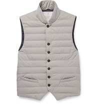 Brunello Cucinelli Water Resistant Shell Down Gilet Gray