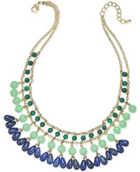 Charter Club Gold Tone Beaded Drama Necklace Only At Macy's