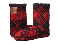 Woolrich Chalet Ankle Sock Red Plaid Women's Slippers