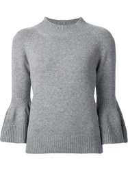 Carolina Herrera Bell Sleeve Jumper Grey