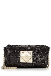 Sonia Rykiel Sequin Shoulder Bag Black
