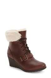 Uggr Women's Ugg Janney Waterproof Thinsulate Wedge Bootie Stout Leather