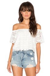 Surf Gypsy Crochet Off Shoulder Top White