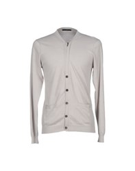 Daniele Alessandrini Homme Knitwear Cardigans Men Light Grey
