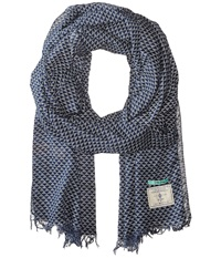 Scotch And Soda Printed Scarf Indigo Scarves Blue