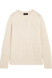 A.P.C. Atelier De Production Et De Creation Ennis Cable Knit Alpaca Beige