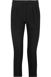 Studio Nicholson Cropped Jacquard Tapered Pants Black