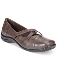 Easy Street Shoes Easy Street Marcie Flats Women's Shoes Brown