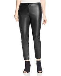 Marina Rinaldi Reale Faux Leather Leggings Black