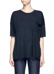 Rag And Bone 'The Big Tee' Pocket Oversized Cotton T Shirt Black