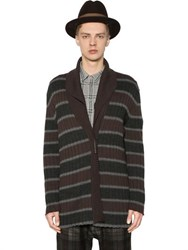 Antonio Marras Striped Button Up Wool Cardigan