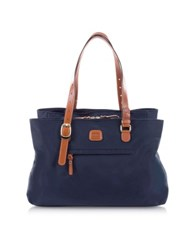 Bric's X Bag Large Nylon Tote Bag Blue