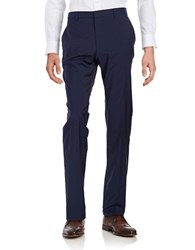 Hugo Genius Wool Dress Pants Blue