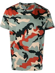 Valentino 'Rockstud' Camouflage T Shirt Multicolour