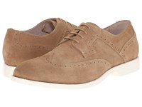 Stacy Adams Westport Sand Suede Men's Lace Up Wing Tip Shoes Tan