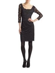 Josie Natori Dahila Lace Dress Black