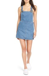 Billabong Women's 'Saturdaze' Denim Pinafore Dress Blue Wave