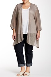 14Th And Union Knit Kaftan Cardigan Plus Size Beige