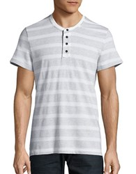 Kenneth Cole Textured Henley Tee White