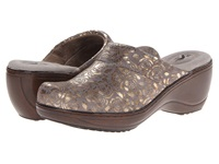 Softwalk Murietta Grey Gold Women's Clog Shoes Gray