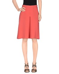Just In Case Skirts Knee Length Skirts Women Coral