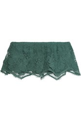 Miguelina Callie Crocheted Cotton Top Green