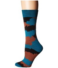 Richer Poorer Vagabond Hiking Light Sock Teal Men's Crew Cut Socks Shoes Blue