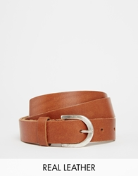 Asos Leather Boyfriend Waist And Hip Belt Tan