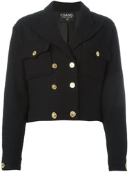 Chanel Vintage Boucle Fitted Jacket Black
