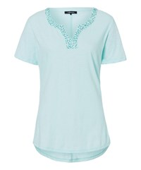 Olsen Cotton T Shirt With Beads Green