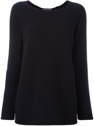 Dondup Boat Neck Knitted Blouse Blue