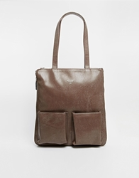 Matt And Nat Tote Bag With Pockets Taupe