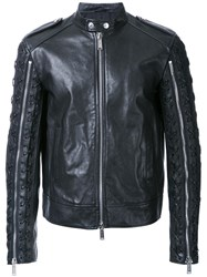 Dsquared2 Lace Up Sleeve Jacket Black