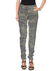 Naf Naf Denim Denim Trousers Women Military Green