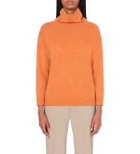 Armani Collezioni Turtle Neck Wool Blend Jumper Arancio