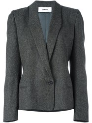 Chalayan Signature Fitted Jacket Grey